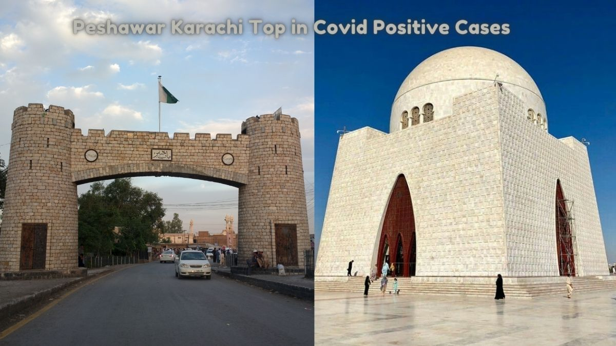 Peshawar Karachi Top in Covid Positive Cases