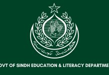 GOVT OF Sindh Education and Literacy Department Sindh Board